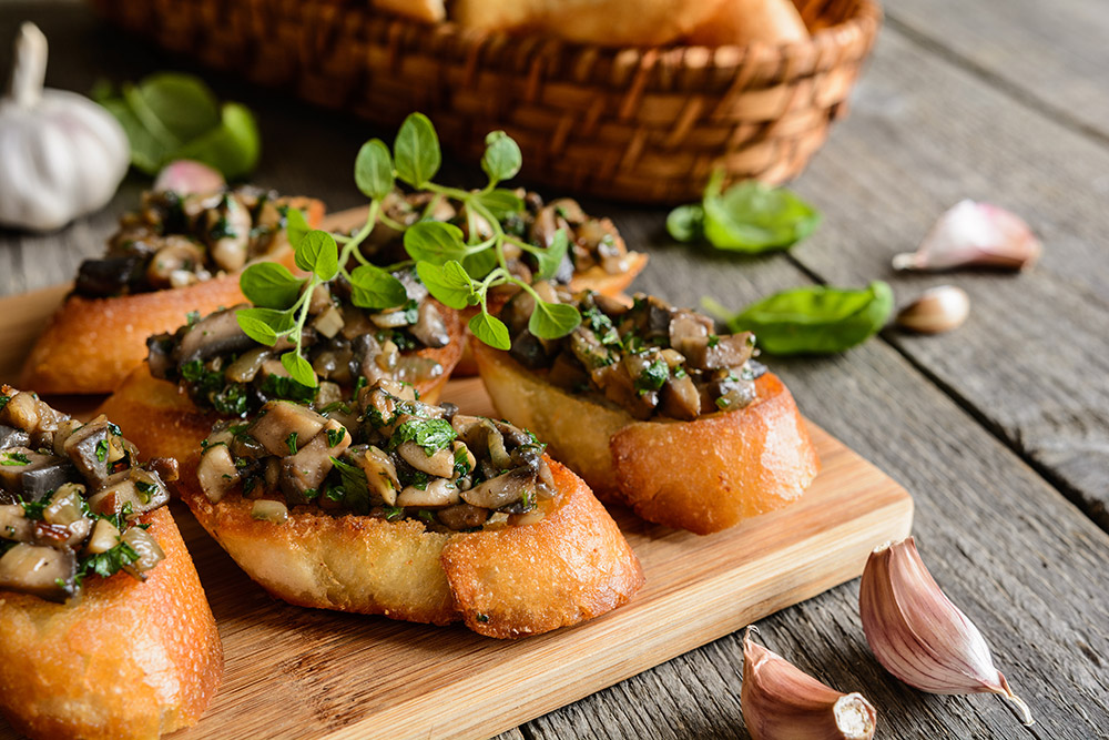 How to Cook Wild Mushroom Bruschetta - Italian Dish