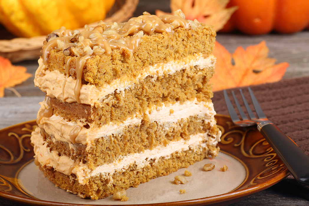 Easy and Moist Pumpkin Layer Cake with Frosting