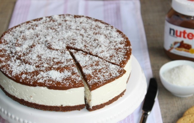 Creamy Cold Nutella Coconut Cake