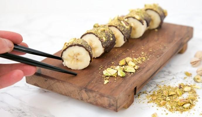 "Banana Chocolate Pistachio ""Sushi"""