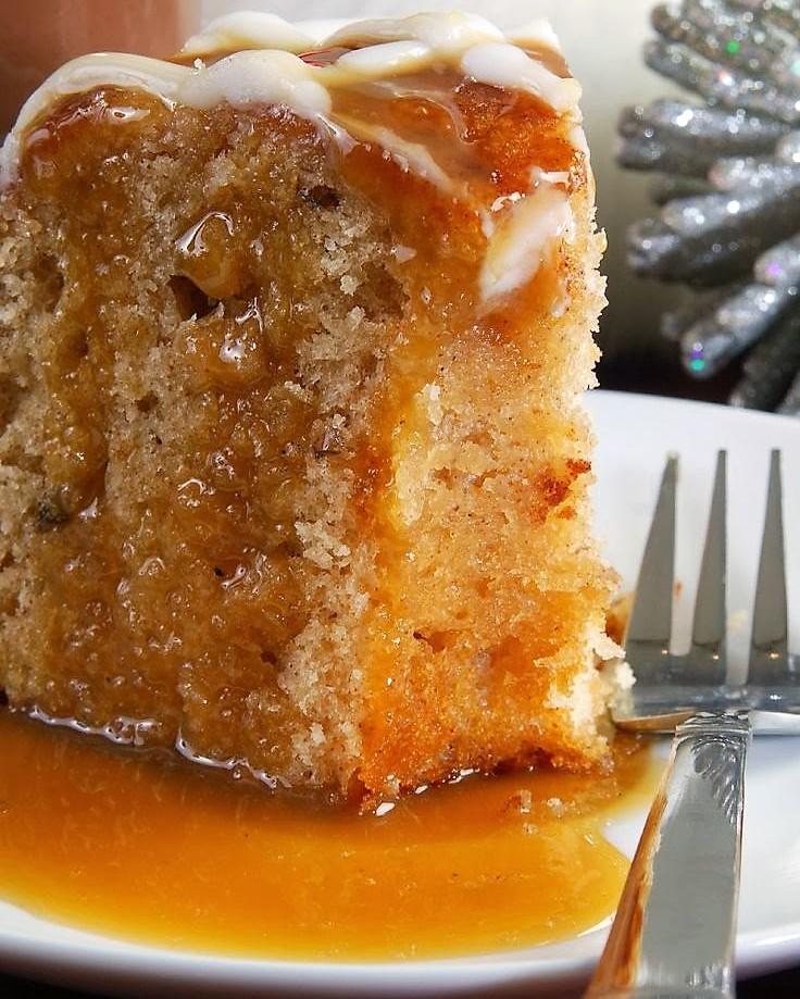 Grandma's Apple Pound Cake with Caramel Glaze
